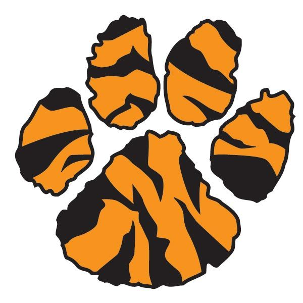 Tiger clipart kid. Paw print ppe pinterest