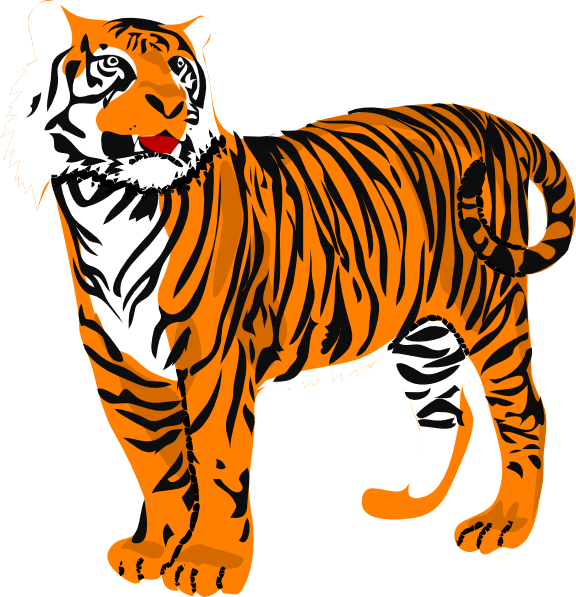 Tiger clipart png. Standing clip art at