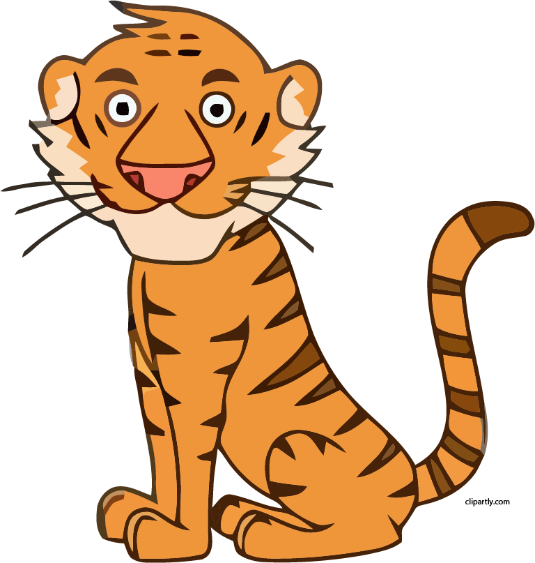 Tiger clipart png. Clipartly com