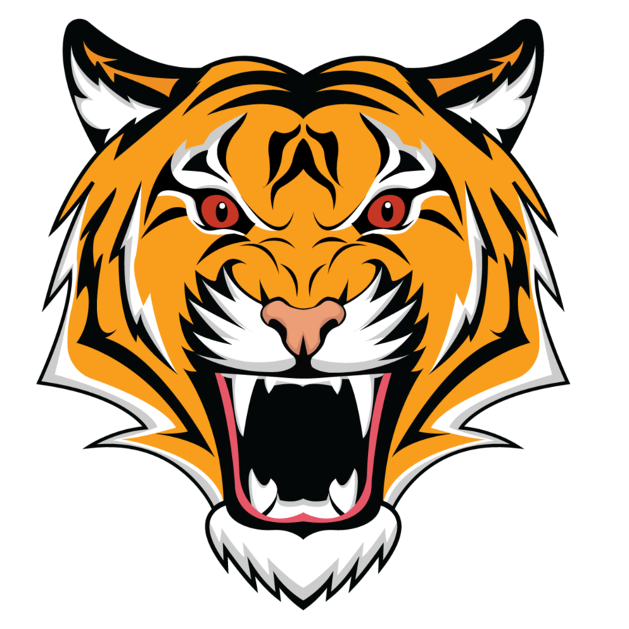 Tiger logo png. Simple or icon by