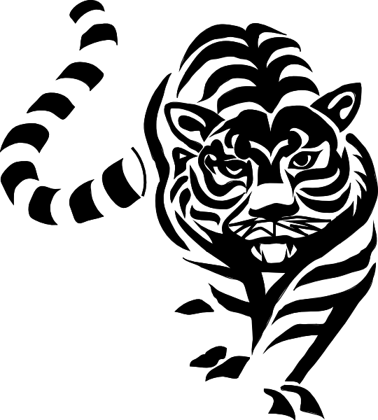 tiger stripes black and white png