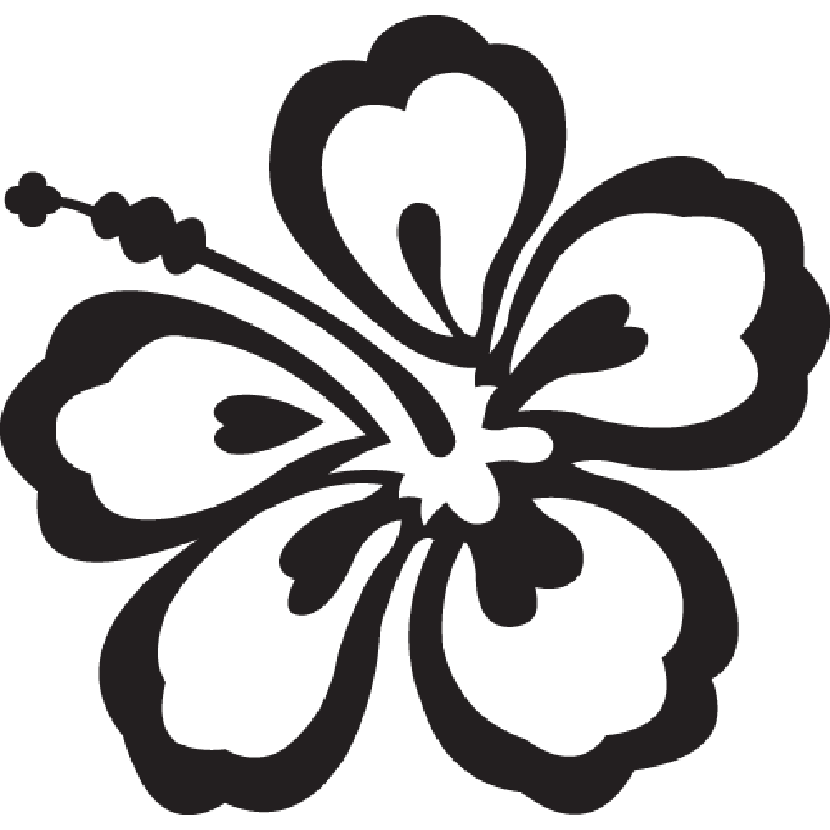 White hibiscus flower png. Free aloha cliparts download