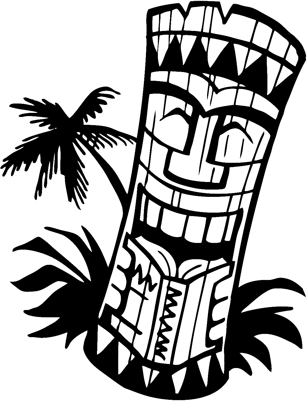 Shaka vector. Luau party clip art