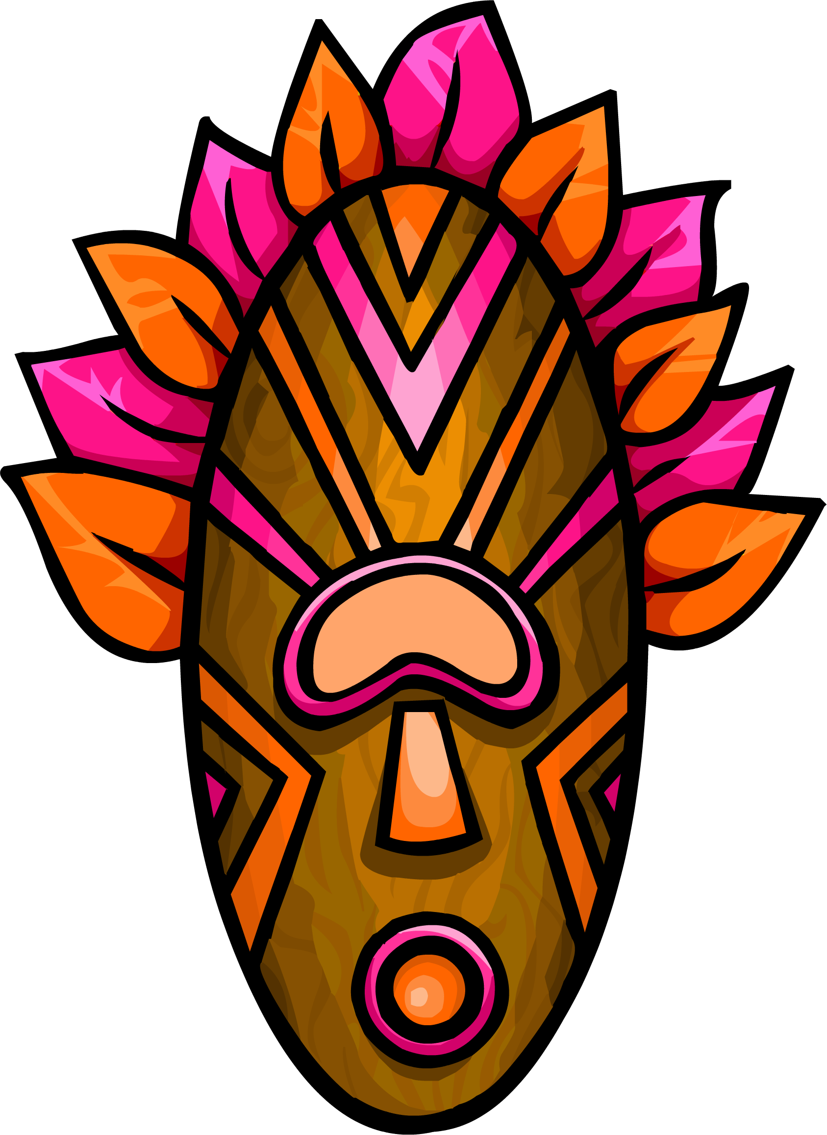 Tiki mask png. Image pink club penguin