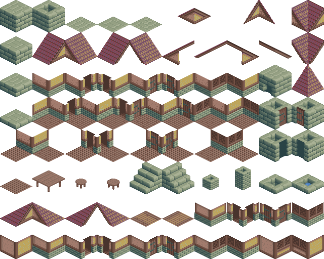 Tile drawing. Swing isometric tiles and
