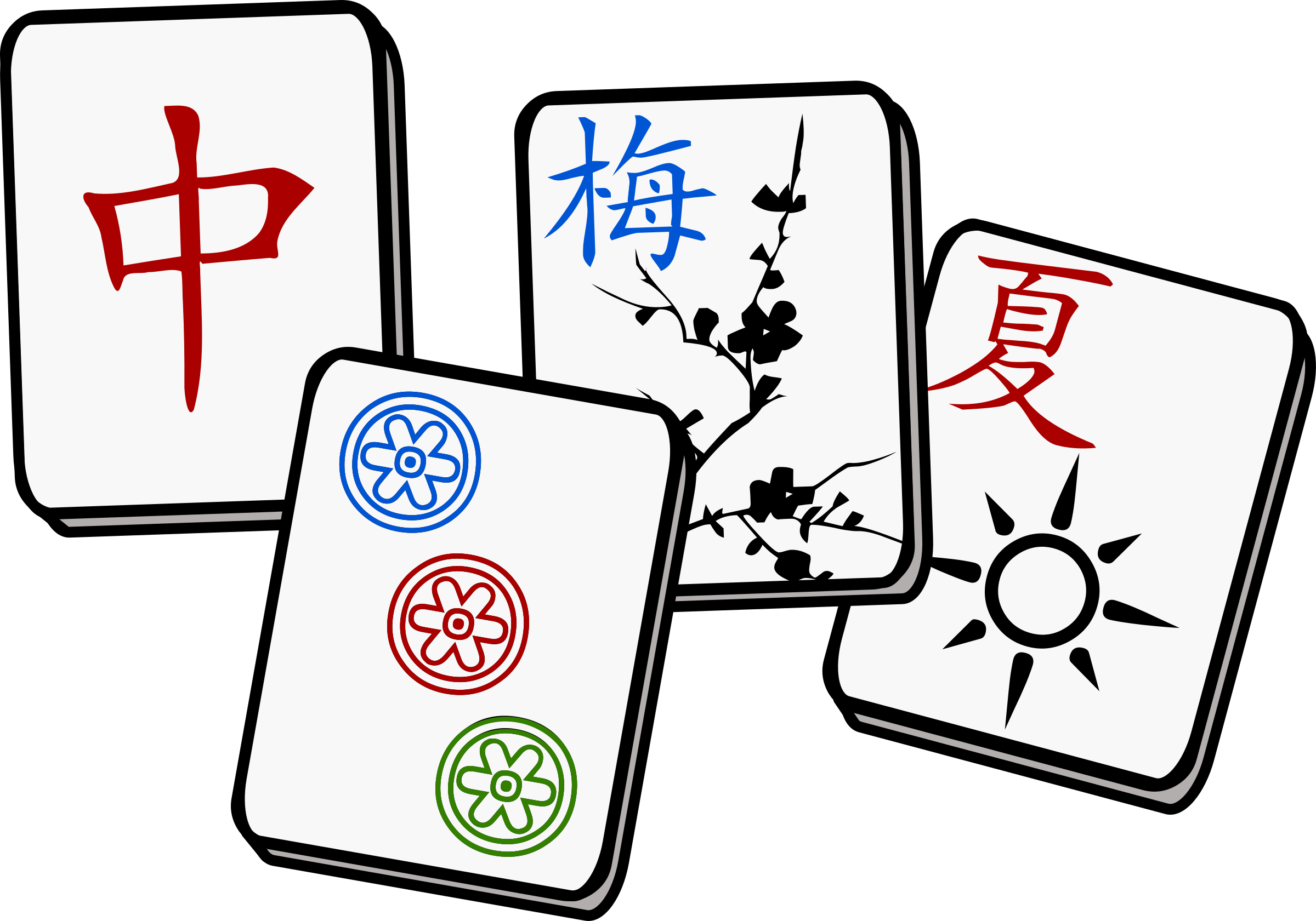 Tile vector mahjong