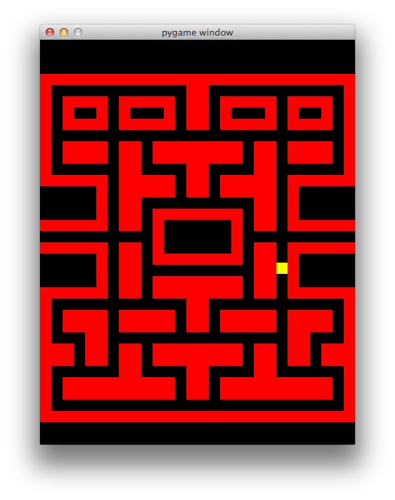 Drawing mazes red. Making the pacman maze
