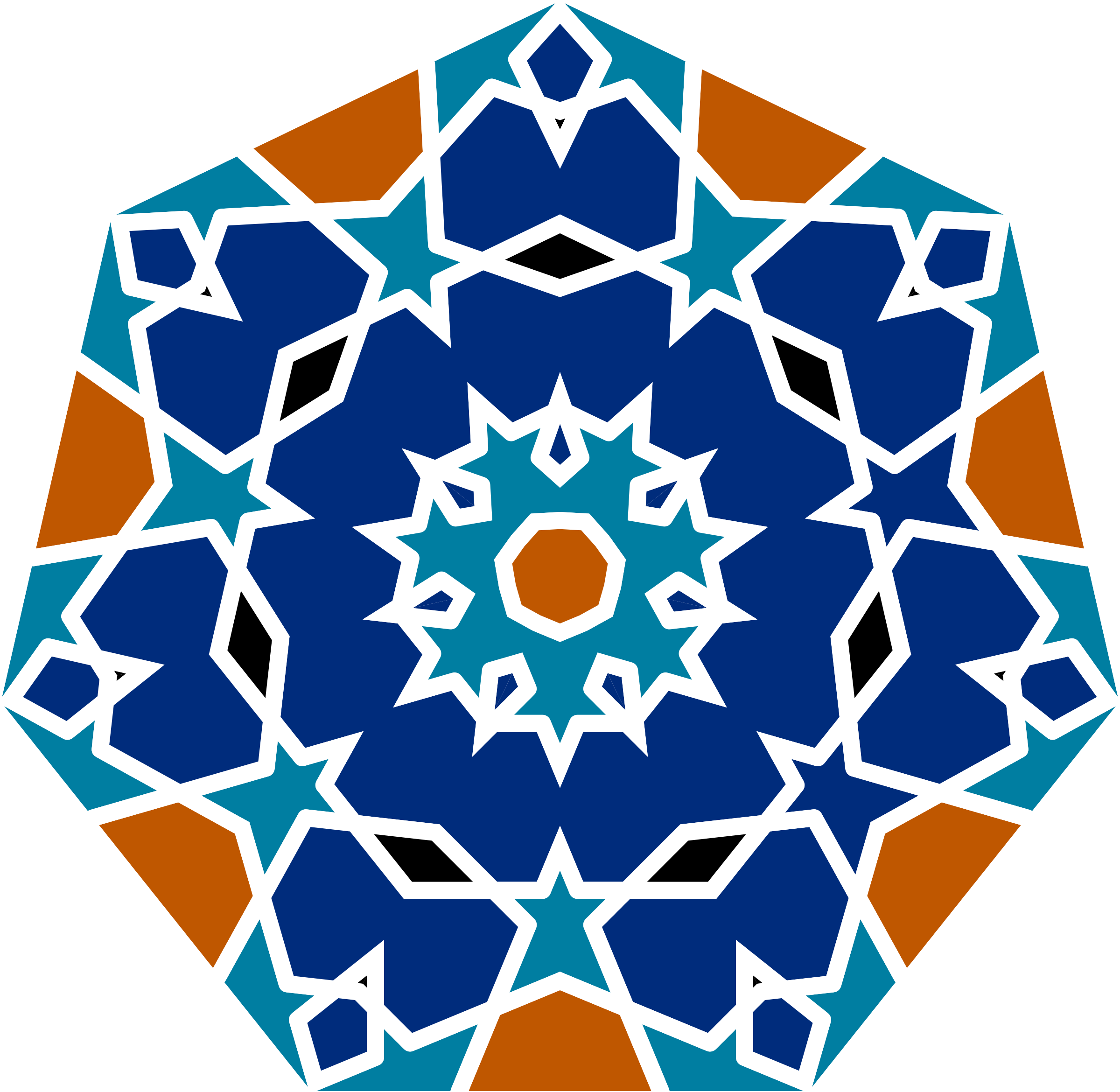 Tile drawing islamic. Geometric by gdj inspired