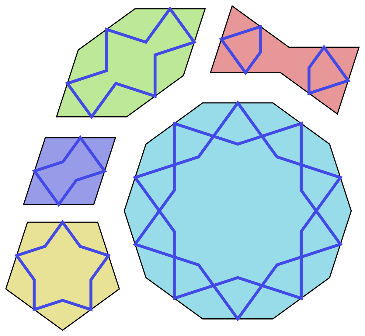 Tile drawing islamic. Girih tiles wikipedia