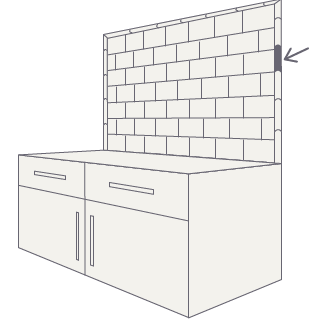 tile drawing kitchen backsplash