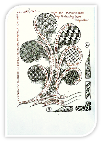 Series of meditative zentangles. Drawing creativity doodle banner black and white library