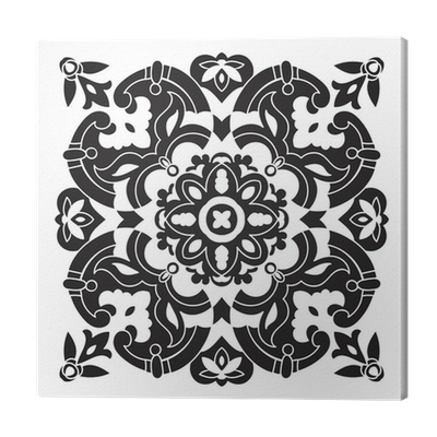 Tile drawing pattern. Hand decorative italian majolica