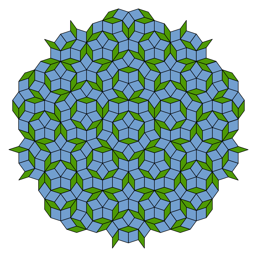 Tile drawing pen. Penrose tiling wikipedia