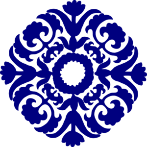 Tile vector. Paisley navy blue clip