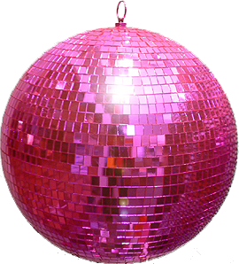 Disco vector farewell party. Pink ball would be