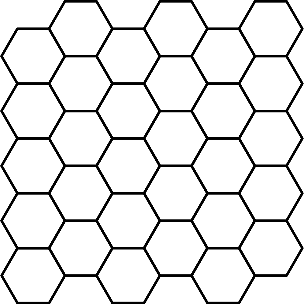 File hexagonal tiling wikimedia. Fence svg chain svg library library