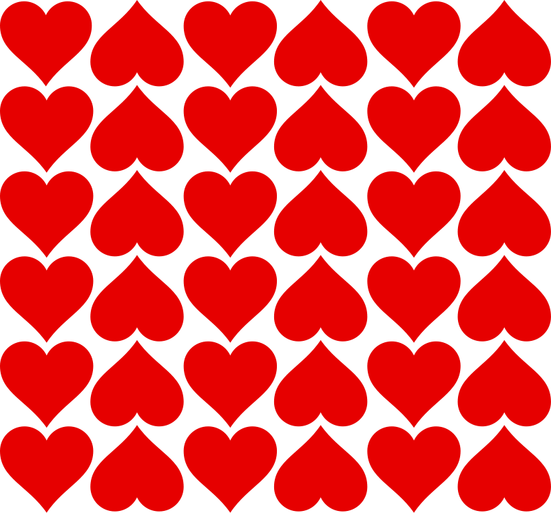 Vector s heart pattern. Free image of red