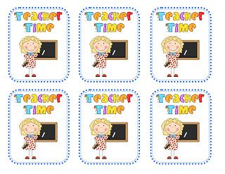 Time clipart teacher. Daily choice cards school