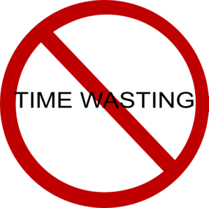 Time clipart waste time. No wasting clip art