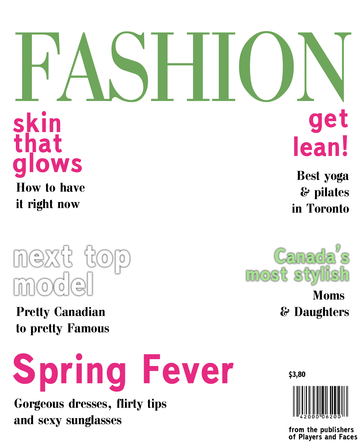 Vector magazines fashion magazine. Covers template april onthemarch