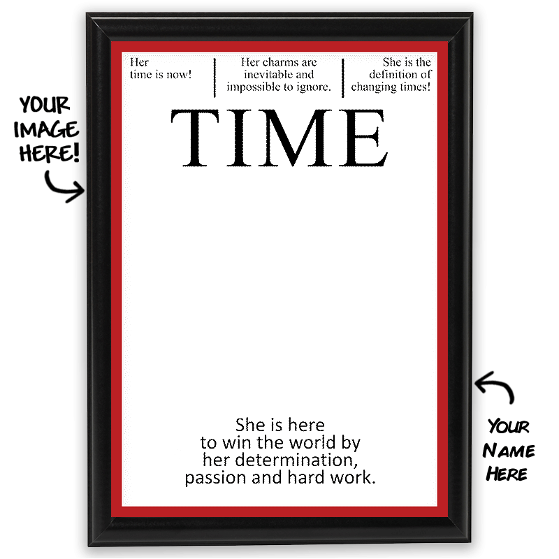 Time magazine png. Personalized photo frame