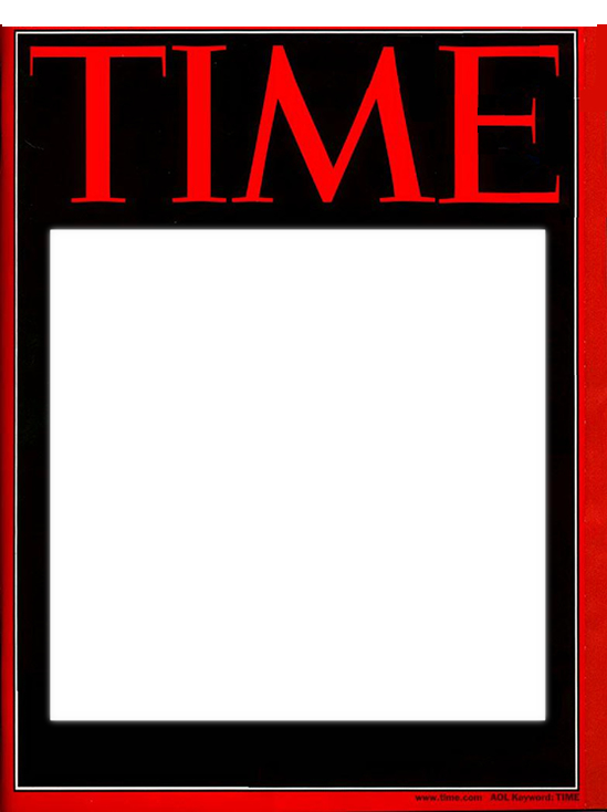 Time magazine cover template. Vector magazines blank jpg