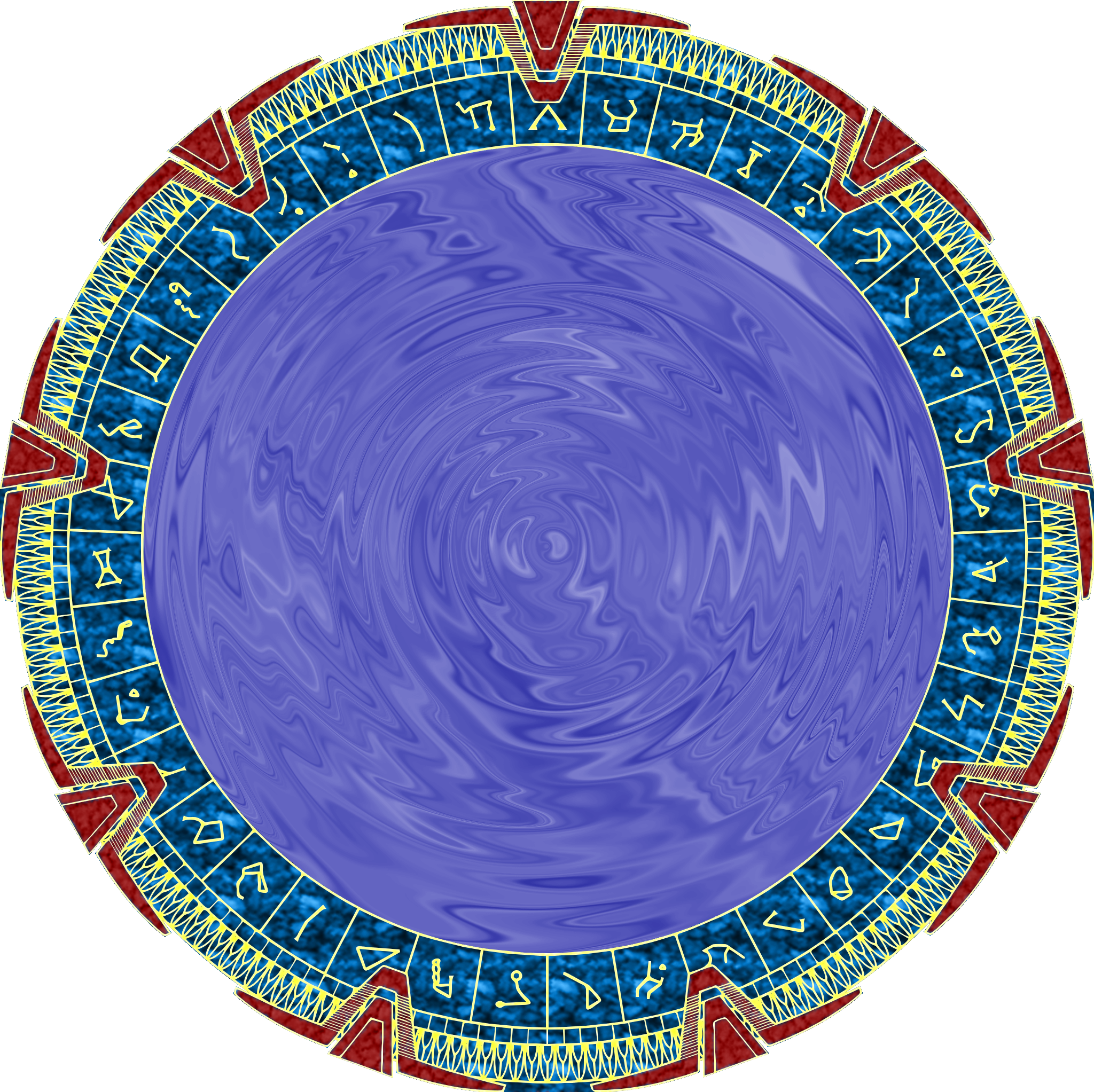 Time portal png. File stylized coloured stargate