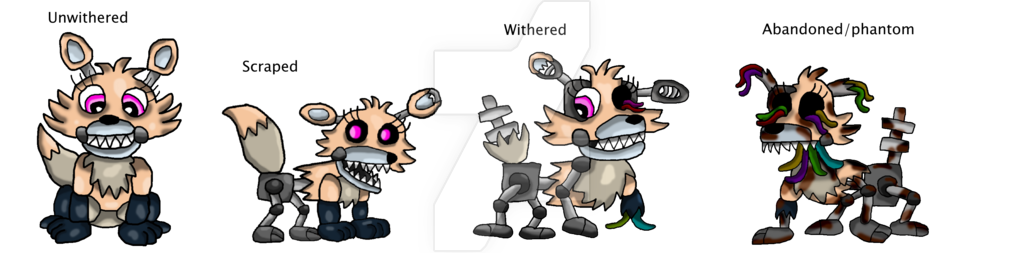 Timeline drawing fnaf. Animatronic thingy vixlee by