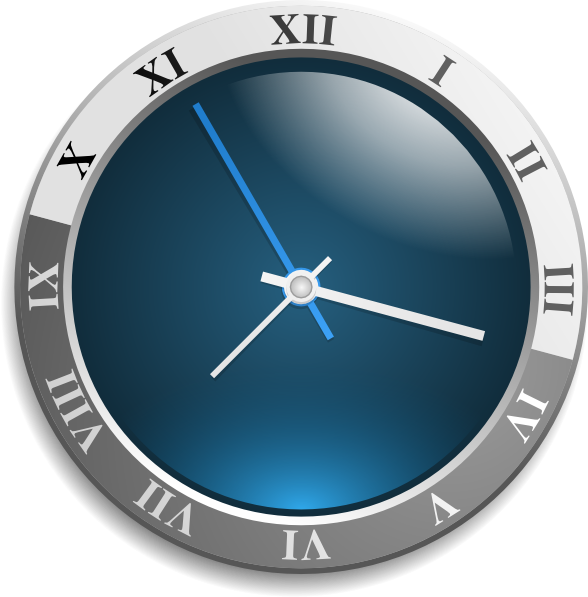 Watch clipart blue watch. Free animated clock download