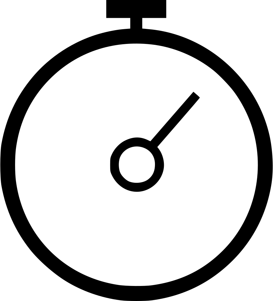 Timer drawing black and white. Svg png icon free