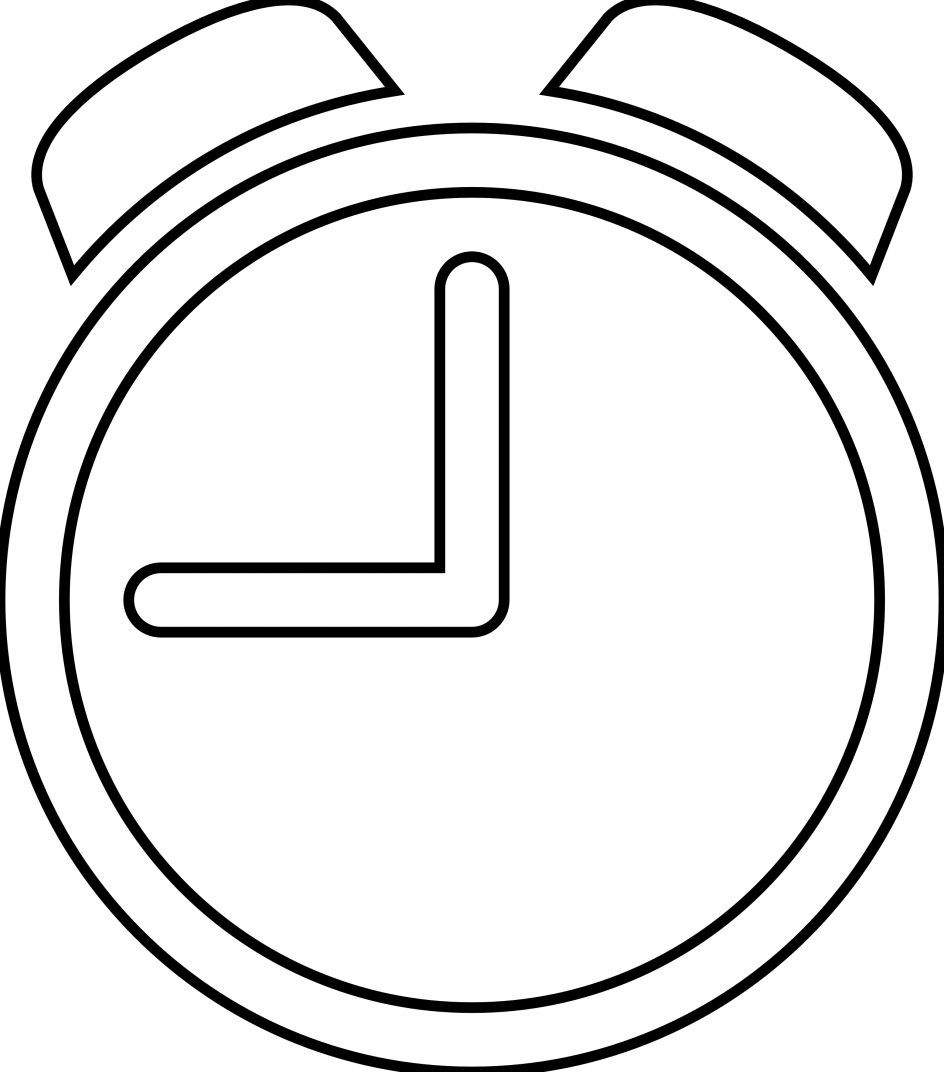 Timer drawing black and white. Clipart library huge