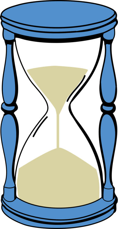 Timer drawing hourglass. Egg countdown clock free
