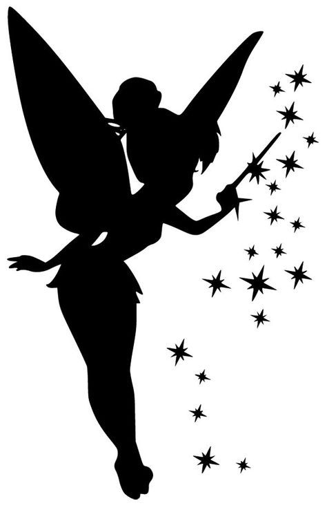 Tinkerbell clipart template. Pin by josette on