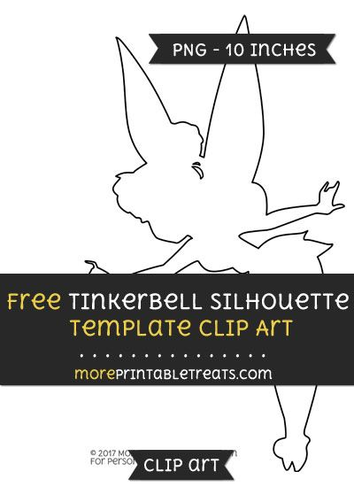 Tinkerbell clipart template. Free silhouette files