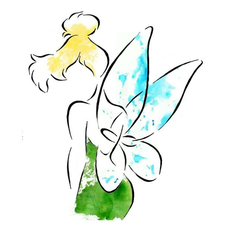 Tinkerbell clipart water. Silhouette stencil at getdrawings