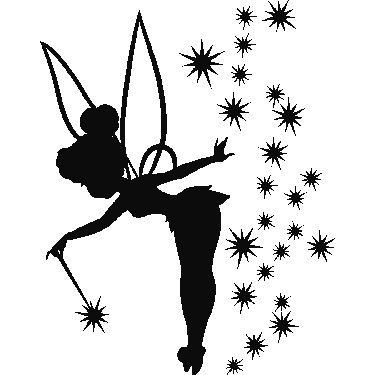 Tinkerbell silhouette png. Sticker f e adorable