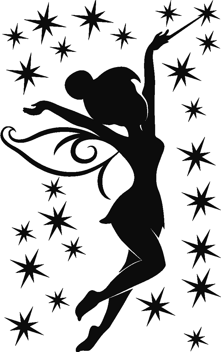 Tinkerbell silhouette png. Download sticker petite fee