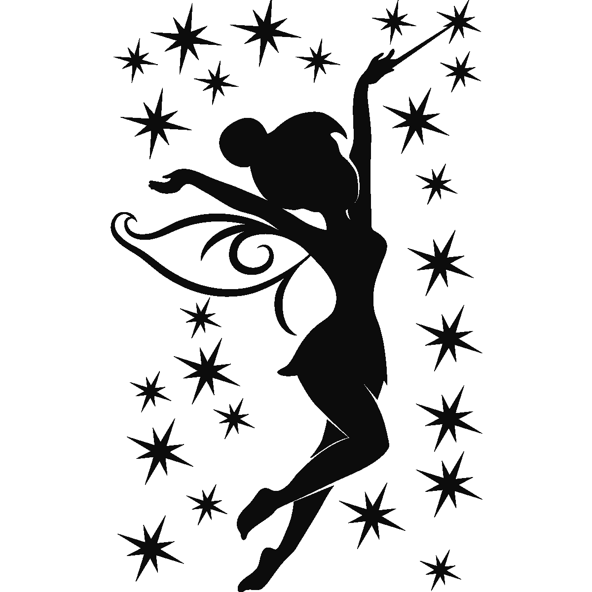 Tinkerbell silhouette png. Think love pinterest silhouettes