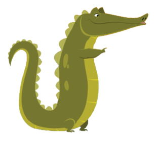 Tiny clip alligator. Gus the real qubo