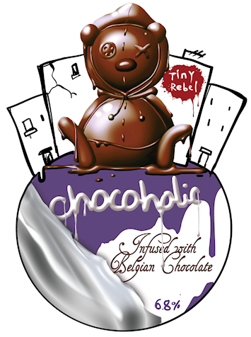 Tiny clip industrial. Chocoholic rebel brewing chocolate