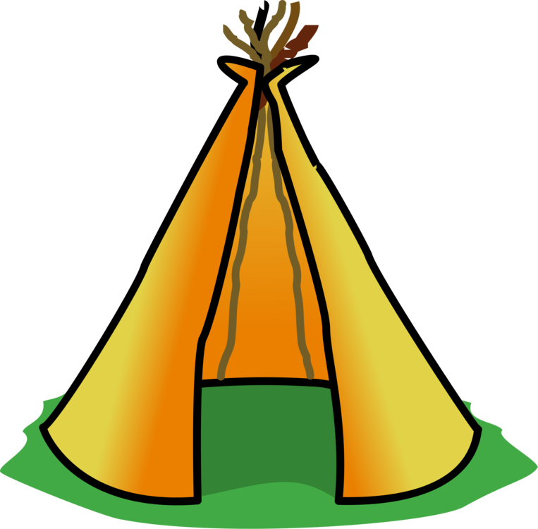 Tipi drawing house. Native americans in the
