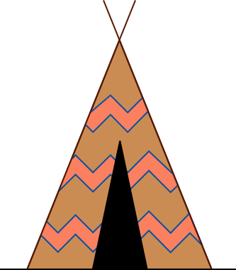 Tipi drawing native american. Nomadic clipart