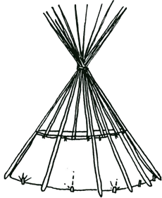 Tipi drawing black and white. Sunmaker arts overview m