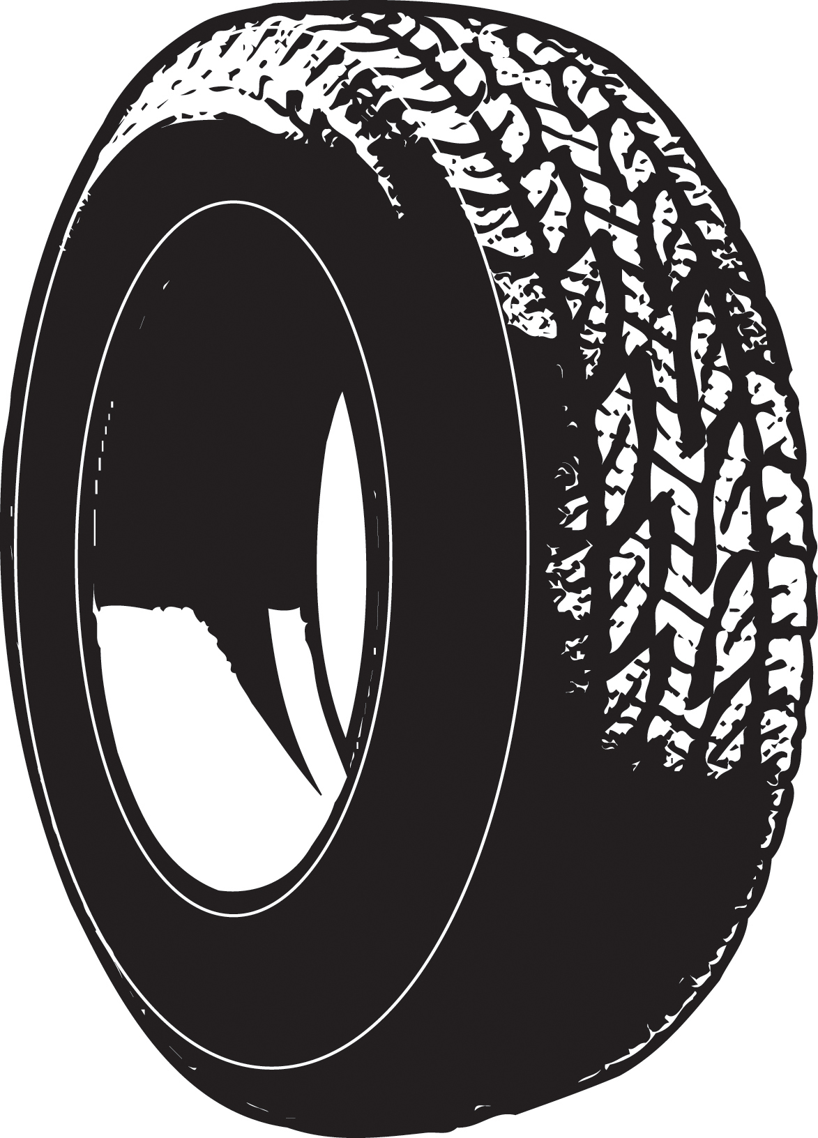 Tire clipart black and white. Best tires cute