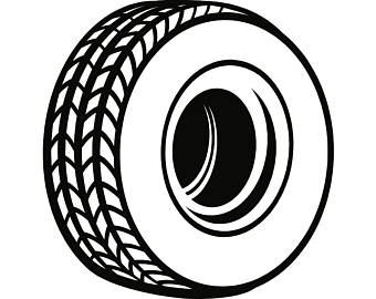 Tire clipart black and white. Car cliparts free download
