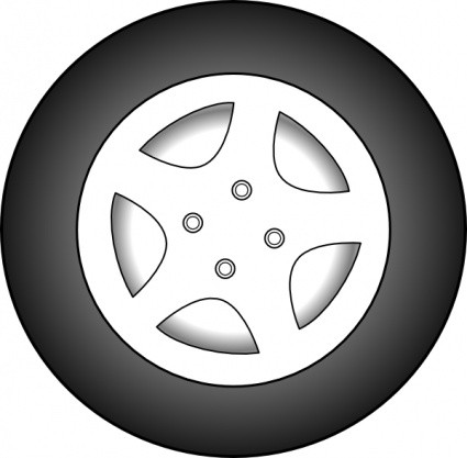 Tire clipart black and white. Car clip art download