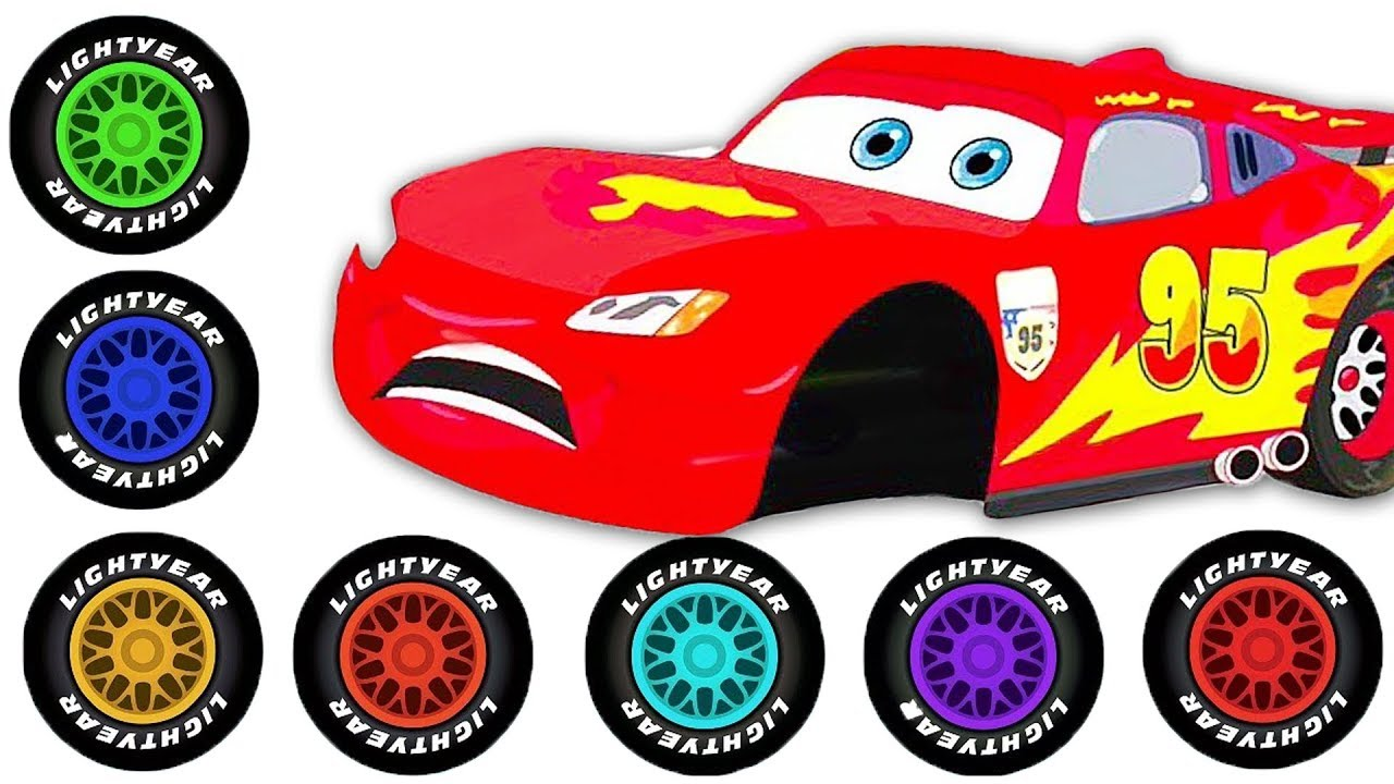 Tire clipart lightning mcqueen. Red cartoon car in