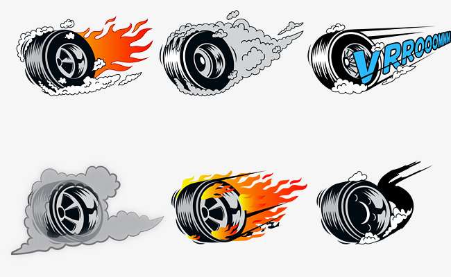 Tire clipart smoking tire. Vector tires hot wheels