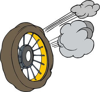 Tire clipart tire blowout. Rv safety margin some