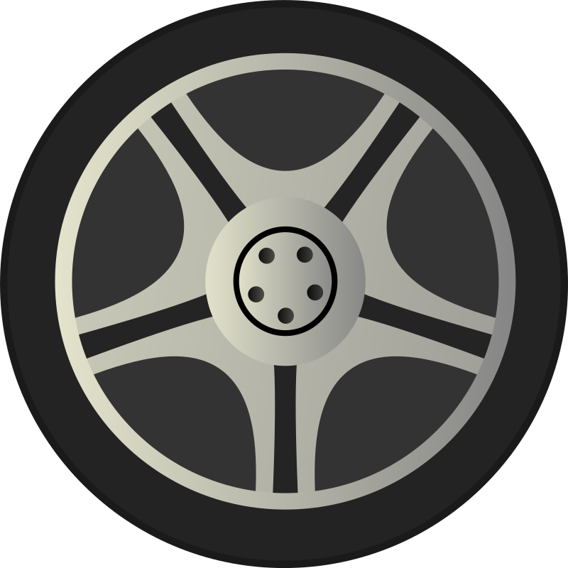 Tire side view png. Simple car wheel rims